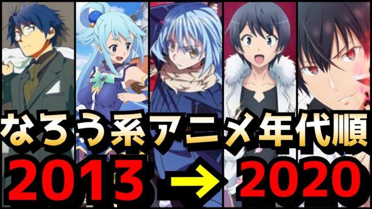 【なろうの系譜】歴代なろう系アニメを年代順にまとめて紹介。【2013—2020】【リゼロ、このすば、オーバーロード 】