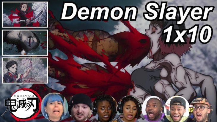 Demon Slayer 1×10 Reactions   Amazing Anime Reactors!!!   【鬼滅の刃】【海外の反応】