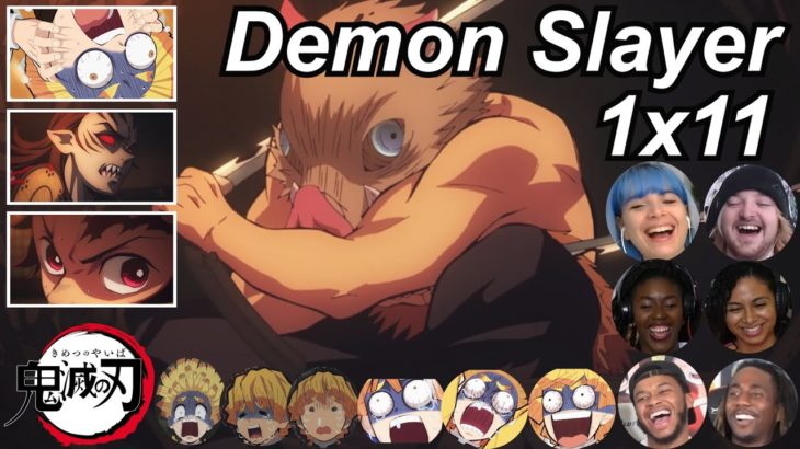 Demon Slayer 1×11 Reactions   Amazing Anime Reactors!!!   【鬼滅の刃】【海外の反応】