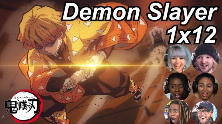 Demon Slayer 1×12 Reactions   Amazing Anime Reactors!!!   【鬼滅の刃】【海外の反応】