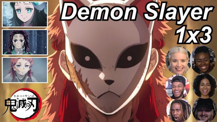 Demon Slayer 1×3 Reactions   Amazing Anime Reactors!!!   【鬼滅の刃】【海外の反応】