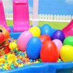 アンパンマン おもちゃ アニメ プール すべりだいからたまごがすべってきたよ! 中にはなにがはいっているかな? アニメキッズ