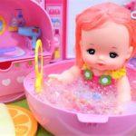 メルちゃん おもちゃ アニメ メルちゃんのいちごのおふろセット とってもかわいいおふろにはいるよ! アニメキッズ