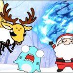 【クリスマス生き物のアニメ】サメニンとサンタの冒険!スズメバチに襲われた!?トナカイのツノが折れた!