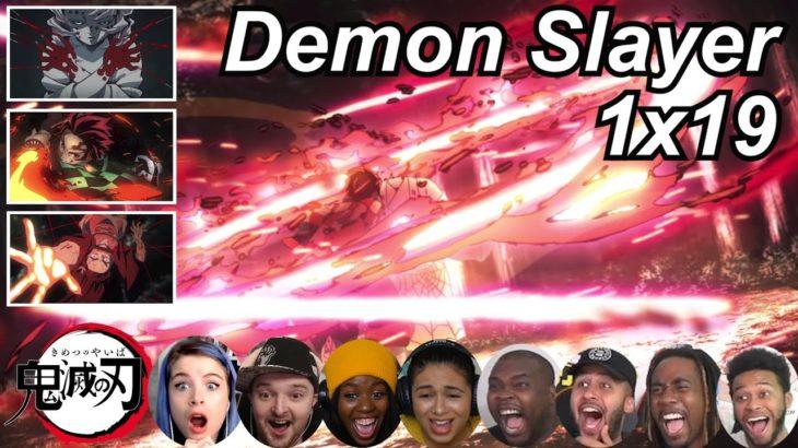 Demon Slayer 1×19 Reactions | Amazing Anime Reactors!!! | 【鬼滅の刃】【海外の反応】