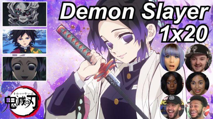 Demon Slayer 1×20 Reactions   Amazing Anime Reactors!!!   【鬼滅の刃】【海外の反応】