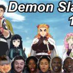 Demon Slayer 1×22 Reactions | Amazing Anime Reactors!!! | 【鬼滅の刃】【海外の反応】