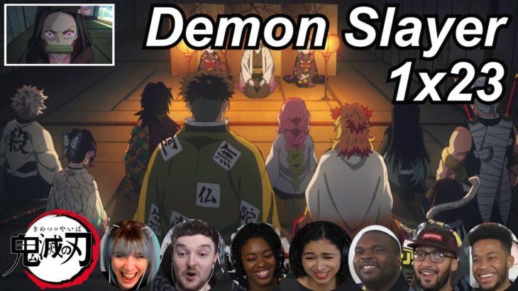 Demon Slayer 1×23 Reactions   Amazing Anime Reactors!!!   【鬼滅の刃】【海外の反応】