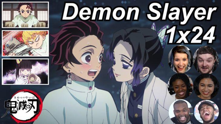 Demon Slayer 1×24 Reactions   Amazing Anime Reactors!!!   【鬼滅の刃】【海外の反応】