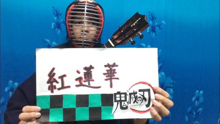 Vol.27  TVアニメ鬼滅の刃オープニングテーマ 紅蓮華をウクレレで弾いてみたのん♪
