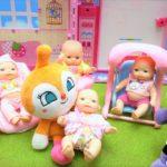 アンパンマン おもちゃ アニメ バイキンマン ドキンちゃん 赤ちゃんのお世話をするよ! ミルクじょうずにできるかな? アニメキッズ