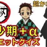 【鬼滅の刃】アニメクイズ 幼少期+α シルエットクイズ 無限列車 Demon Slayer Kimetsu no Yaiba Anime quiz Childhood + α silhouette
