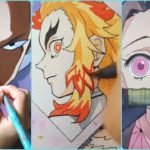 Anime Art! Talented People draw anime characters Naruto, Demon Slayer, One Punch Man, One Piece