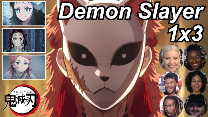 Demon Slayer 1×3 Reactions | Amazing Anime Reactors!!! | 【鬼滅の刃】【海外の反応】