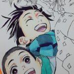 Drawing Takeo Kamado (竈門 竹雄) from Anime Kimetsu no Yaiba (鬼滅の刃/Demon Slayer: Kimetsu no Yaiba)