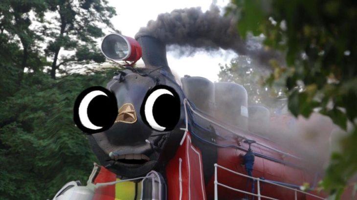 【 doodles アニメ 】蒸気機関車 , 鉄橋 , 電車  他 から 顔が出現する ドッキリ ?  おもしろ動画 【 ゲーム 】