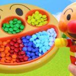 アンパンマン アニメ フェイスランチ皿 カラフルなチョコレートをもりつけよう! アニメキッズ